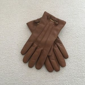 Coach Sheep Leather And Merino Wool Gloves Sz 7.5